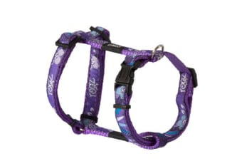 Rogz Fancy H Harness Purple Forest - M