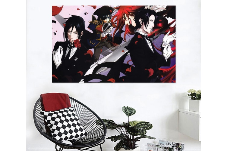 3D Black Butler 387 Anime Wall Stickers Self-adhesive Vinyl, 110cm x 110cm(43.3'' x 43.3'') (WxH)