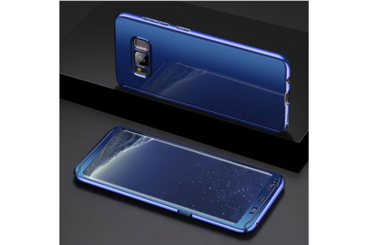 Mirror Cover Full Protective Scratchproof Flip Stand Case Shell For Samsung Blue Samsung S7