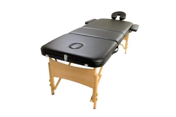 Wooden Portable Massage Table 70cm - BLACK