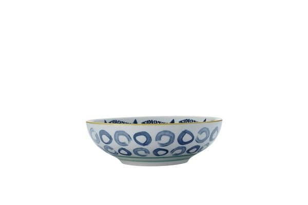 Maxwell & Williams Laguna Coupe Bowl 18cm Catch of The Day Blue