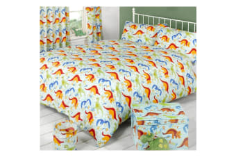 Mucky Fingers Childrens Dinoworld Duvet Cover Bedding Set (Dinoworld)