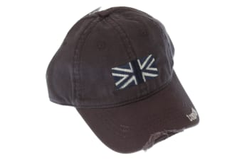 London Union Jack Great Britain Design Baseball Cap (Navy) (One Size)