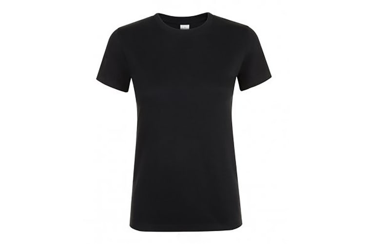 SOLS Womens/Ladies Regent Short Sleeve T-Shirt (Deep Black) (XXL)