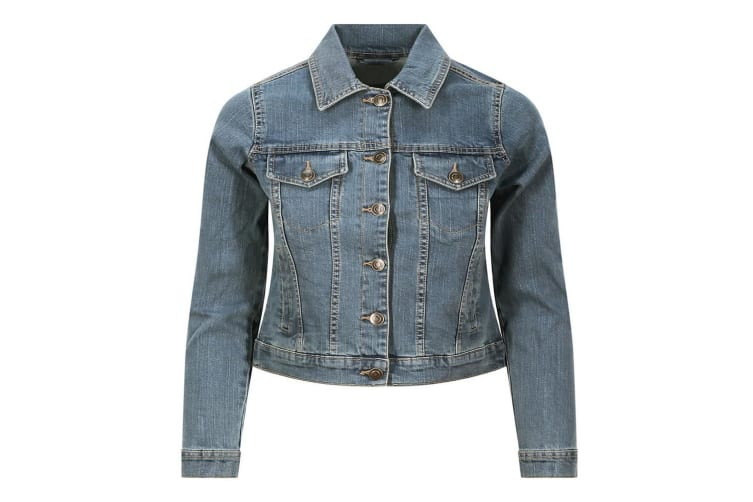So Denim Ladies Olivia Denim Jacket (Light Blue Wash) (XS)