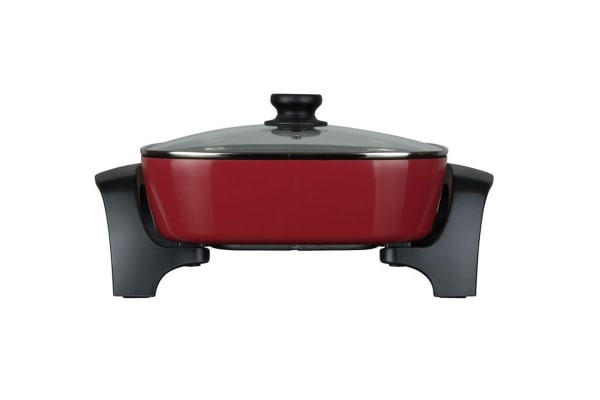 Westinghouse 30cm Electric Square Fry Pan - Red