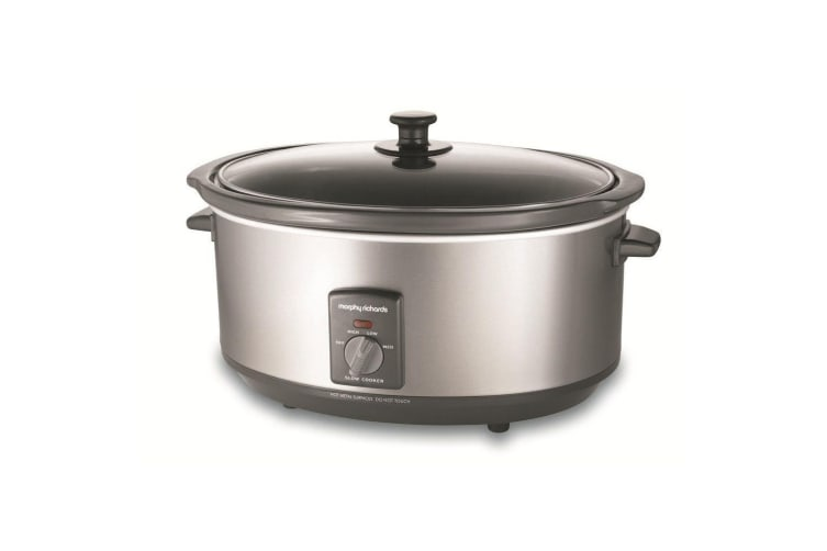 Morphy Richards 6.5L Electric Stainless Steel Slow Cooker w/ Non-Stick Pan Pot