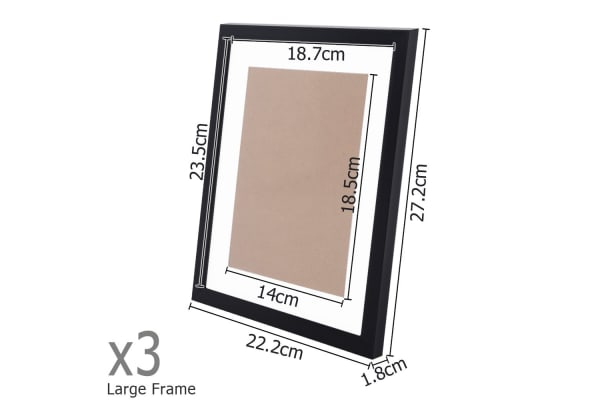 23 Piece Photo Frames Set Wall (Black)