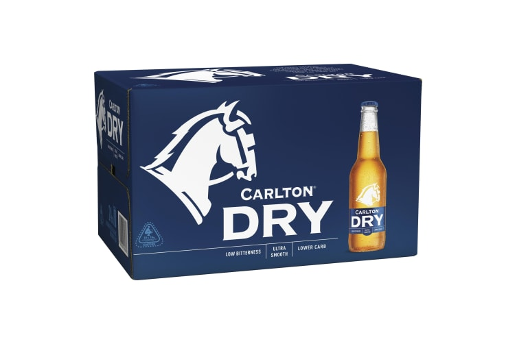 Carlton Dry Beer 24 x 330mL Bottle