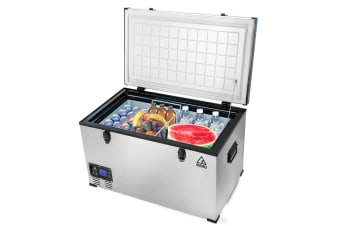 GECKO 105L Portable Fridge Freezer Cooler Camping 12V/24V/240V for Caravan Car