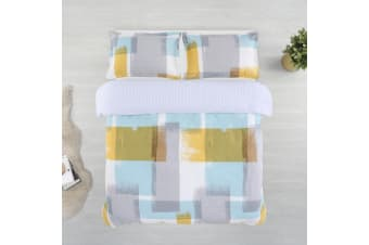 Printed Cotton Sateen Quilt Cover Set King Single Bed Arctic