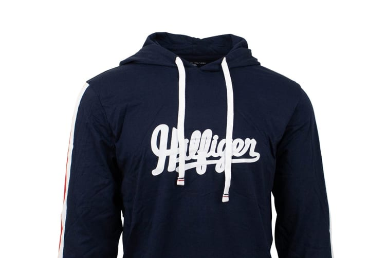 Tommy Hilfiger Men's Modern Essentials Hoodie (Dark Navy, Size XL)