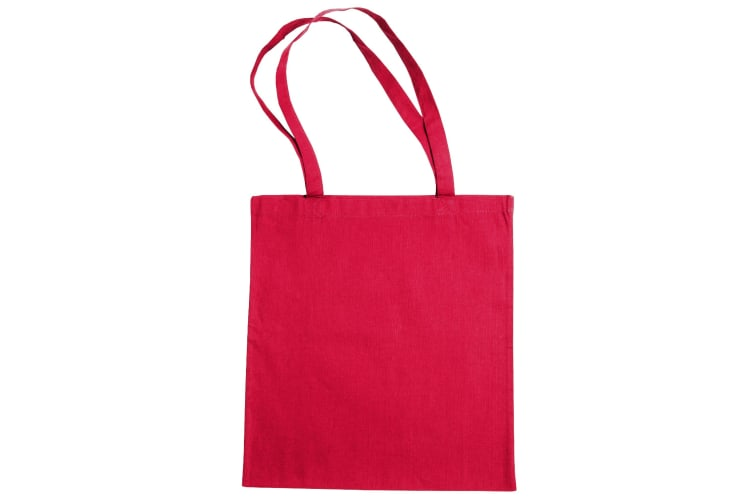 "Jassz Bags ""Beech"" Cotton Large Handle Shopping Bag / Tote (Rouge Red) (One Size)"