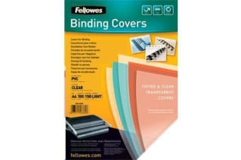 Fellowes Coverclear (0.15) Pack 100