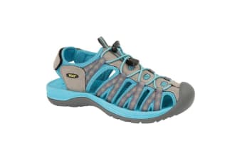 PDQ Womens/Ladies Superlight Floral Print Sports Sandals (Grey/Teal)