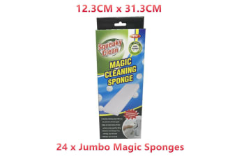24 x Large Magic Cleaner Sponge Eraser Cleaning Foam Kitchen Bathroom Glass Scrubber