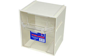 FISCHER PLASTIC Large Visi Pak Storage Drawer With Clips