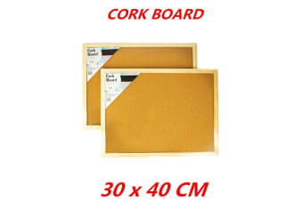Cork Board 30x40cm Pins Corkboard Pinboard Notice Large Memo Photos Wooden Frame Wall