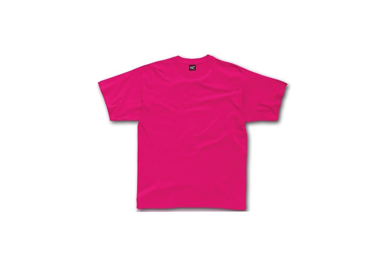 SG Unisex Childrens/Kids Short Sleeve T-Shirt (Dark Pink) (7-8)