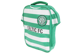 Celtic FC Official Insulated Football Shirt Lunch Bag/Cooler (Green/White)