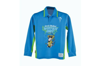 Blue Jarvis Walker Water Rats Kids Long Sleeve Fishing Shirt with Collar-UPF 45+ [Size: 6]