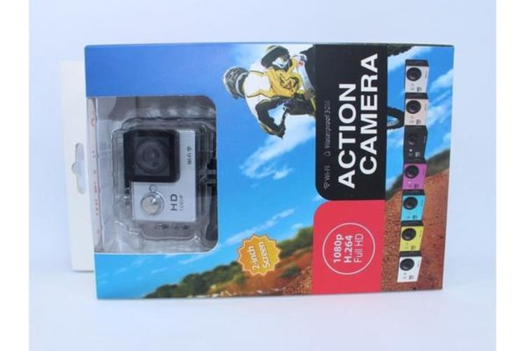 N9Se Portable 30M Waterproof Wi-Fi Loop Recording 1080P Action Camera White