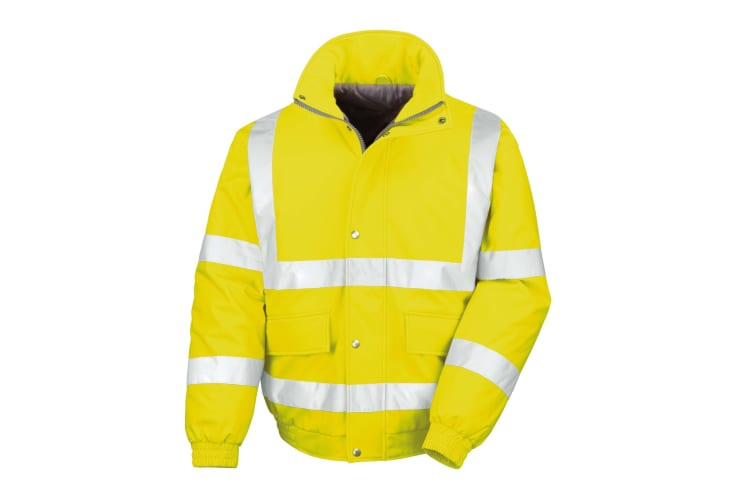 Result Mens Reflective Safety Padded Softshell Blouson Jacket (Yellow) (2XL)