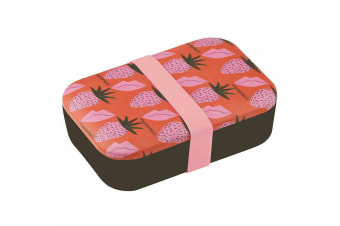 Bouffants 19cm Bamboo Fibre Lunch Box Picnic Food Container Storage Strawberry