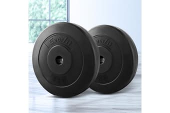 Everfit 2X 5KG Barbell Weight Plates Standard Home Gym Press Fitness Exercise