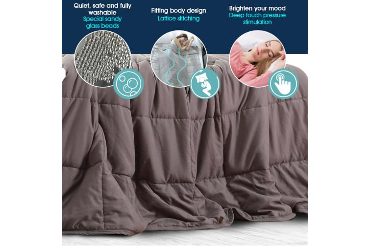 Dreamz Weighted Blanket Deep Relax Sleeping Gravity for Adult Men Women Kids New