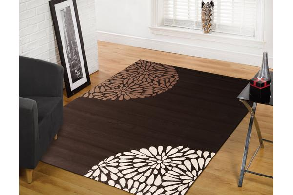 Modern Burst Pattern Rug Brown Beige 230x160cm