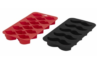 Lips And Moustache Chocolate Mould And Ice Tray Set Of 2