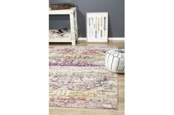 Hazel Sunset Durable Vintage Look Rug 290x200cm