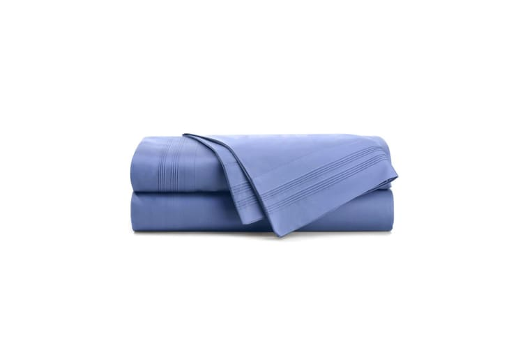 Bambury 1000 Thread Count Cotton Rich Sheet Sets - Cornflower - Queen
