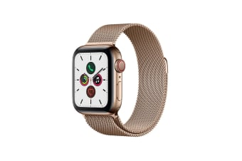 Apple Watch Series 5 (Gold Stainless Steel, 40mm, Gold Milanese Loop, Cellular)