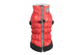 Hip Doggie Crown Dog Puffer Vest (Red)