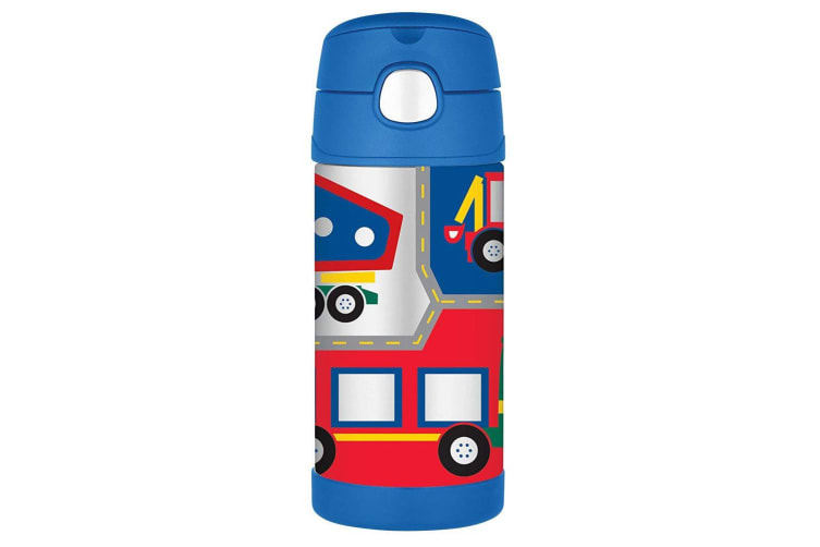 2pc Thermos Funtainer 355ml Insulated Stainless Steel Bottle Vehicle Firetruck