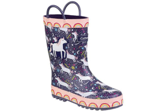Cotswold Childrens/Kids Sprinkle Wellington Boots (Purple Unicorn) (4.5 Child UK)