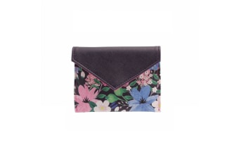 Painted & Pressed Womens/Ladies Floral Purse (Purple)