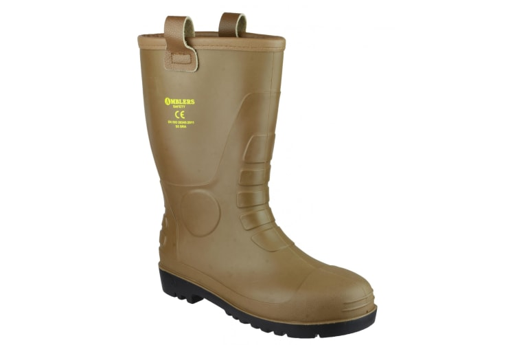 Footsure 95 Tan PVC Rigger Safety Wellingtons / Mens Safety Boots (Tan) (4 UK)