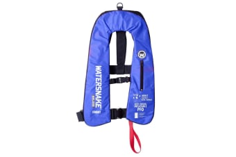 Blue Watersnake Deluxe Automatic/Manual Inflatable PFD - Level 150 Adult Life Jacket