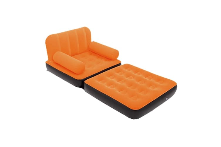 Bestway Inflatable 2 in 1 Couch Chair Air Bed Single Orange