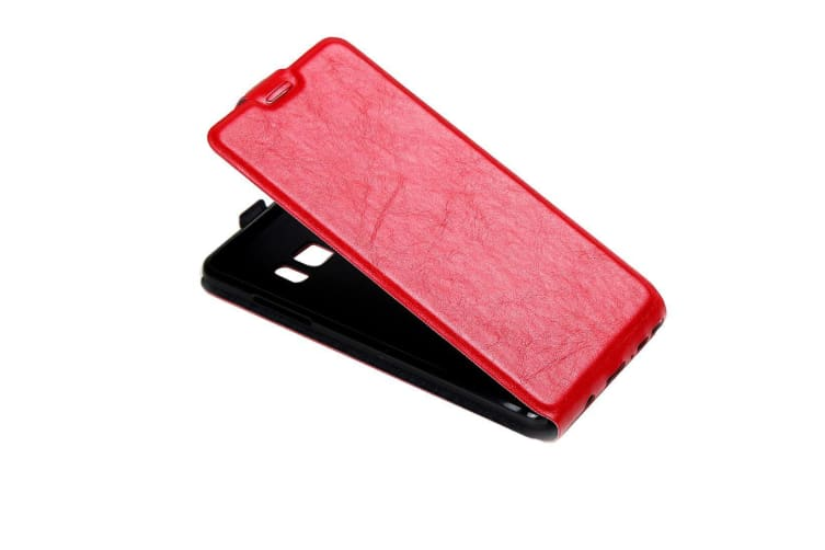 For Samsung Galaxy Note FE Case  Vertical Flip Durable Protective Cover Red