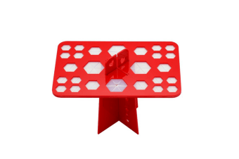 Removable Cosmetic Brush Receiving Frame For 26-Hole Air-Drying Frame Red Square Hole