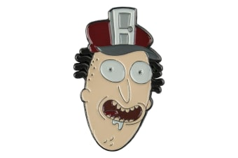 Rick and Morty Fake Doors Salesman Enamel Pin