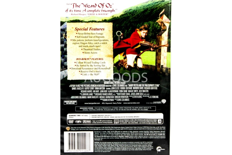 Harry Potter And The Philosopher's Stone  - Rare- Aus Stock DVD  PREOWNED: DISC LIKE NEW