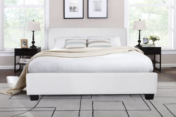 Shangri-La Bed Frame - Grandioso Collection (White, Double)
