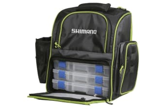 Shimano Soft Fishing Tackle Back Pack with Three Tackle Trays