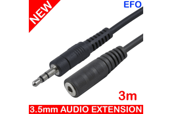3M 3.5Mm Stereo Audio Extension Cable Headphone Jack Aux Auxilliary Cord