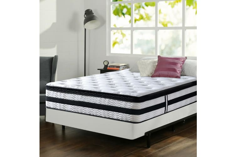 Queen Double King Single Mattress Bed Euro top 35CM Firm Pocket Spring Foam